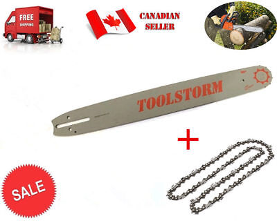 "New Chainsaw Bar & Chain Combo For Stihl 20"" 3/8"" 0.063"" 72 Dl Sprocket Nose"