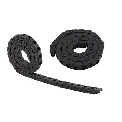 2pcs CNC Machine Tools Cable Drag Chain Wire Carrier Black 1000MM/ 3.28ft
