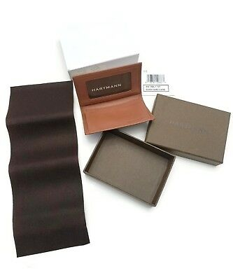 Hartmann Aged Belting Leather Gusseted Credit Card ID Business Card Holder Case