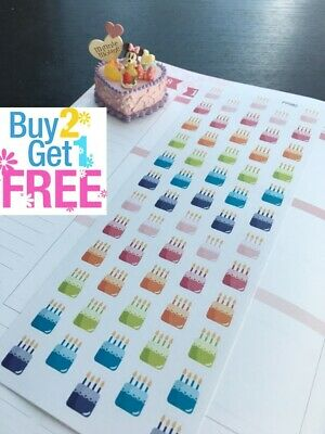 PP082 -- Little Birthday Cake Life Planner Stickers for Erin Condren (48pcs)