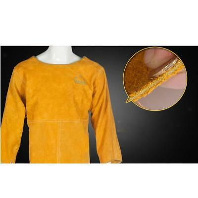 Long Sleeves Cowhide Leather Welding Apron Protective Welding Jacket 100cm