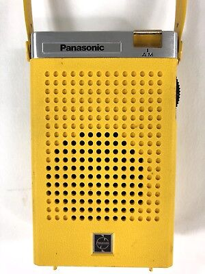 Vintage Panasonic AM Transistor Radio Yellow R-1029 Working