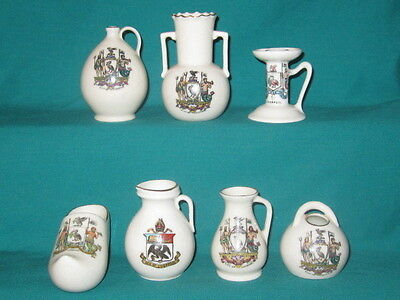 7 Goss / Crested Pieces - all with LIVERPOOL crest