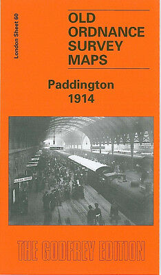 Old Ordnance Survey Map Paddington 1914 Kensington Gardens Bayswater Hyde Park