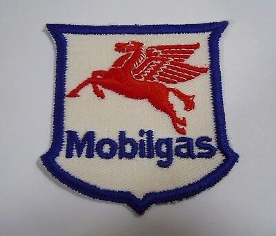 """Vintage MOBILGAS Embroidered Sew On Uniform-Jacket Patch 3"""" Authentic"""