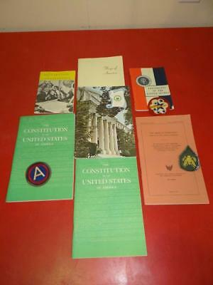 Vintage WWII Military Patches + Government Books Lot Of 10 Collectibles SA2805