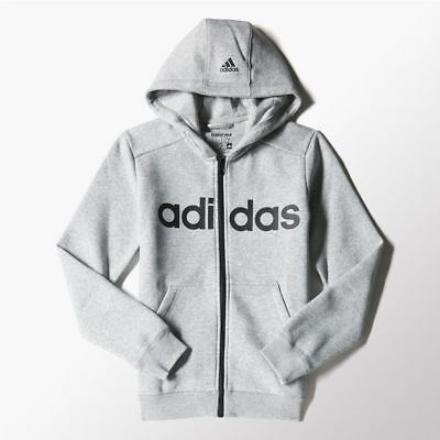 adidas boys grey zip up hoody. Tracksuit top. Hoodie. Sweat top. Age 5-6 years.