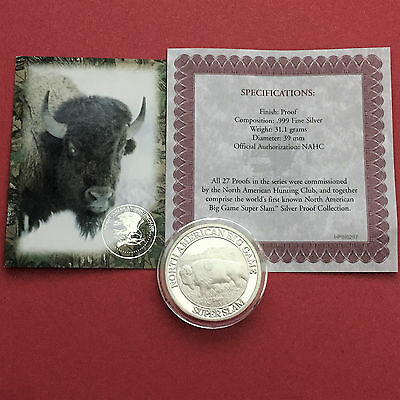 BISON Super Slam North American 1 oz .999 Silver Proof Art Round