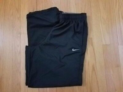 Mens NIKE Dri-Fit Athletic Pants Size XL Black Pre Owned Excellent Condition