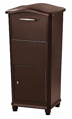 Parcel Drop Box Rotating Drum Mailbox Security Locking Home Office Solid Adjust