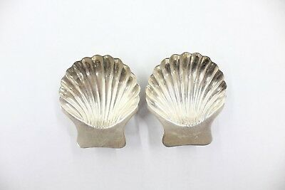 Pair Of Vintage 925 Sterling Silver Maciel Footed Shell Nut Candy Dishes Mexico