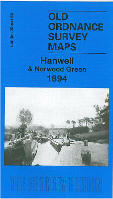 Old Ordnance Survey Map Hanwell Norwood Green 1894 Osterley Park Windmill Lane