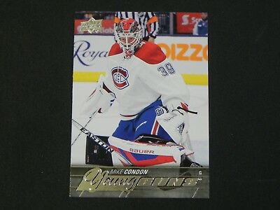 2015-16 15/16 Upper Deck UD Young Guns #239 Mike Condon Montreal Canadiens RC