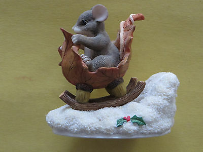 Charming Tails: A One Mouse Open Sleigh Figurine 98/195 (Signature Piece)