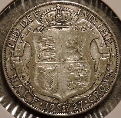 British Silver Half Crown - 1927 - King George V - $1 Unlimited Shipping