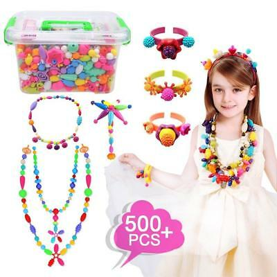 Pop Beads Set 500Pcs Snap Beads for Kids Toddlers- DIY Bead Toys made...