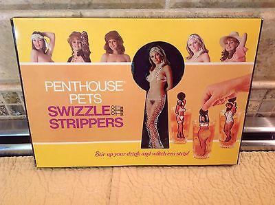 Vintage 1976 Penthouse Pets Swizzle Stripper Sticks