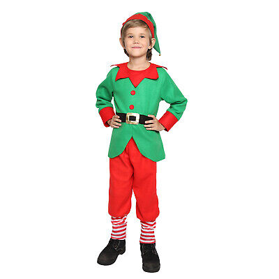 Kids Boy Girl Christmas Fancy Dress Party Costume Outfit Clothes + Hat