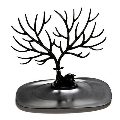 Retro Bird Tree Stand Jewelry Earrings Necklace Ring Show Rack Holder Display BT