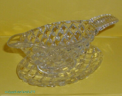 Small Crystal Condiment Jug On Matching Tray ~ As New