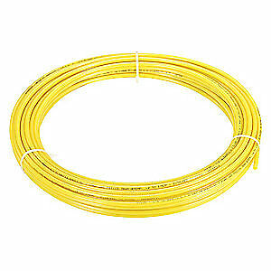 "GRAINGER APPROVED Tubing,9/32"" ID,3/8In OD,250 Ft,Yellow, 4HHE7"