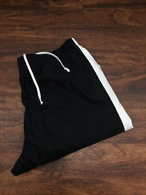 NIKE Black with White Trim Athletic Running Track Pants Women's Size XL 16-18
