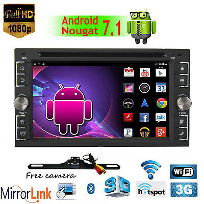 "6.2"" Android7.1 2 DIN Car Stereo DVD Player In-Dash GPS Radio RDS OBD2 Bluetooth"
