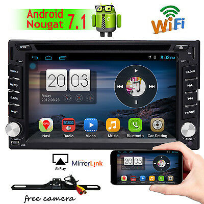 "Android7.1 6.2"" Universal Dual 2 Din Car Stereo+WIFI 4G+OB2 DVD Player Head UNIT"