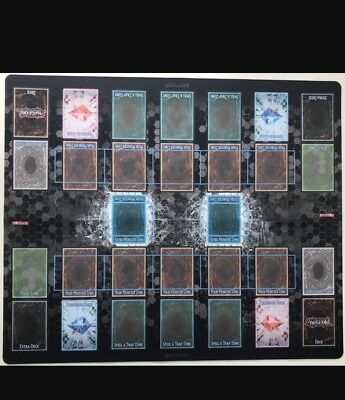 Konami Yugioh Two Player Link Zone Play Mat Aunthentic