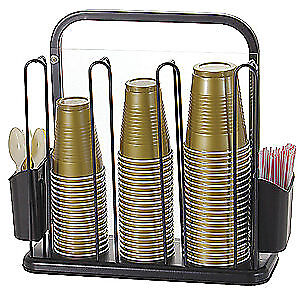OFFICEMATE Steel, Plastic Cup/Cutlery Holder,Countertop,5-11/16inD, 28004