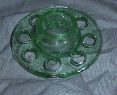 "Vintage Green Glass ""frog/ Vase Insert, Excelent Condition"