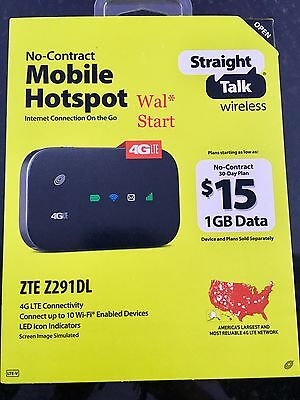 NEW! STRAIGHT TALK Mobile Hotspot Zte Z291DL 4G LTE Prepaid 616960173144