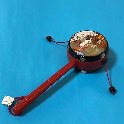 F/S Den Den Daiko Japanese Traditional Toy Drum Kyoto Maiko for Caress Baby