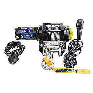 "SUPERWINCH ATV/UTV Electric Winch,4-1/4"" H,Wire, 1140220"