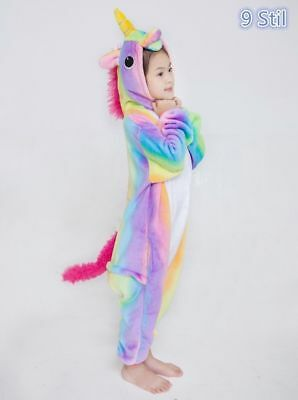 Kids Rainbow Unicorn Kigurumi Animal Cosplay Costume Onesie1 Pajamas Sleepwe