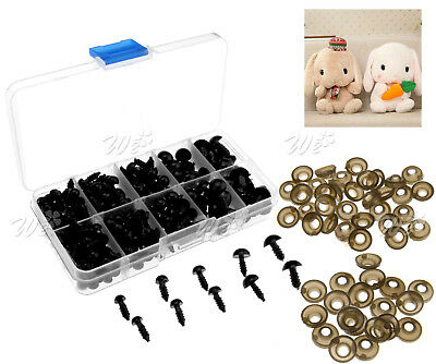 240pcs Plastic Safety Toy Screw Eyes Kit for Teddy Bear Doll Animal Making Craft
