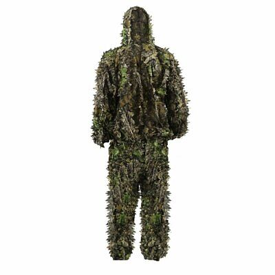 Child 3D Leafy Leave Camo Ghillie Suit Hunting  Outdoor Clothing Jungle Woodland