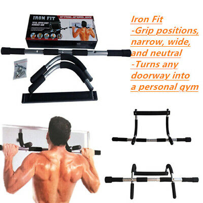 Portable Chin Up Iron Workout Bar Home Fitness Door Pull Up Abs Exercise Fitness