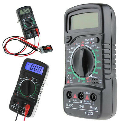 Digital LCD Multimeter Ammeter Voltmeter AC DC OHM Current Circuit Tester Buzzer