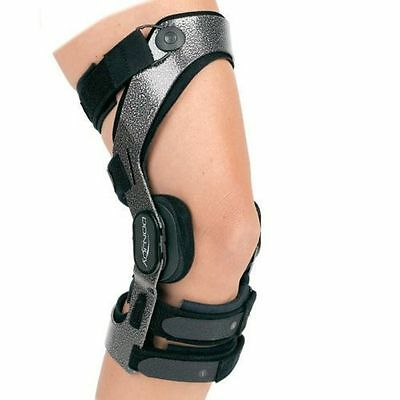Donjoy Armor Action ACL Hinged Knee Brace Right Leg Extra Small Metallic Black
