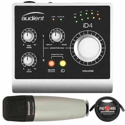 Audient ID4 High Performance USB Audio Interface + Samson C01 Microphone & Cable