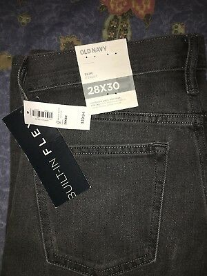 NEW with Tags OLD NAVY SLIM BOYS / YOUNG GUYS 28 x 30 JEANS Faded Grey/Black