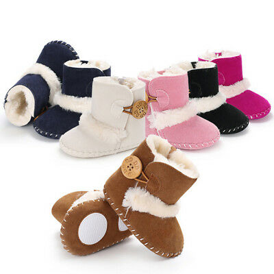 AU Newborn Baby Infant Toddler Boy Girl Snow Boots Crib Shoes Prewalker Booties