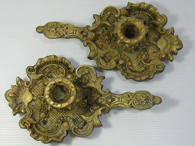 An Antique-Vintage Beautiful Pair Of Solid Brass Candle Stich Holders