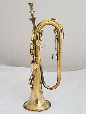 Antique French Keyed Bugle in C by P. DERACHE LUTHIER LYON ca.1830 - Restored