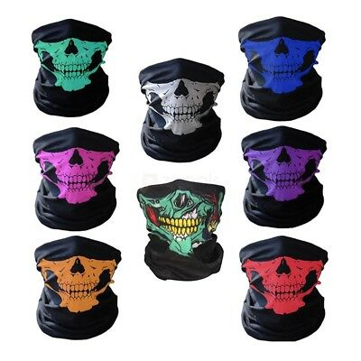 Outdoor Windproof Skull Face Tube Mask for Cycling - Random Color