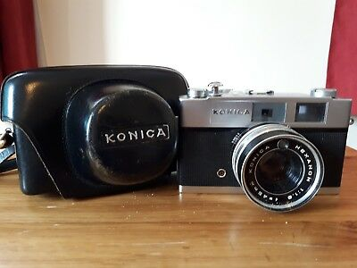 Konica Auto S2 Rangefinder. w. Hexanon 1.8/45mm. Working. Plus Accessories.