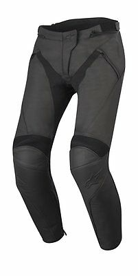 Alpinestars Jagg Leather Pants Black Size 3122516-1100 Euro 48