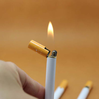 Neu Windproof Jet Flame Cigarette Shaped Refillable Butane Gas Cigar Lighter