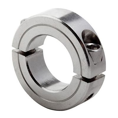 (Qty 1) 1/4 In, 2C-025-S Shaft Collar, Clamp, 2Pc,  SS CLIMAX METAL PRODUCTS